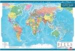 Политическая карта мира, м-б 1:35 000 000 (ламинированная, на планках)