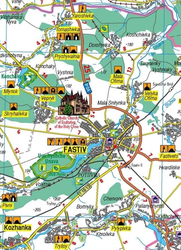 """Купить книгу """"Kyivska oblast. Tourist atlas, м-б 1:250 000"""""""