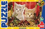 Котята с бусами. Пазл, 160 элементов