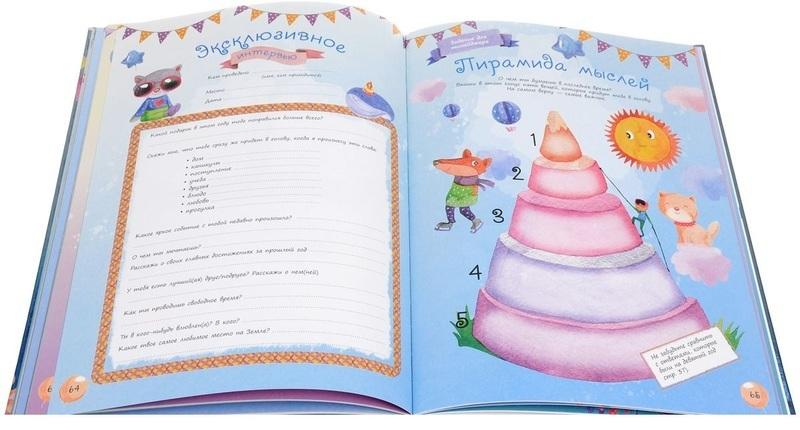 """Купить книгу """"Альбом дней рождения от 1 года до 18 лет. Вклеивайте фото ребенка и записывайте его мысли и мечты"""""""