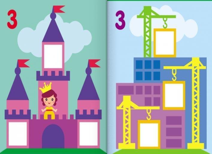 """Купить книгу """"Мозаїка з наліпок. Для дітей від 3 років. Квадратики"""""""
