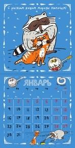 "Купить книгу ""Календарь 2017 (на скрепке). Енот круглый год!"""