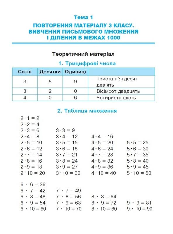 """Купить книгу """"Математика. Посібник-практикум. 4 клас"""""""