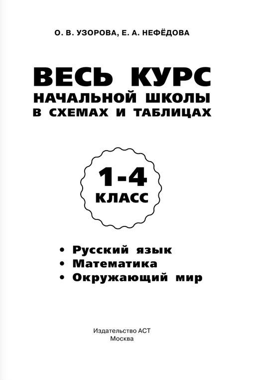 """Купить книгу """"Русский язык. Математика. Окружающий мир. 1-4 класс. Весь курс начальной школы в схемах и таблицах"""""""