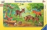 Пазл Дисней в рамке Ravensburger Лесные малыши 15 элементов (06376R)