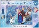 Пазл Ravensburger. Холодное сердце. Сверкающий снег. 100 элементов (13610)