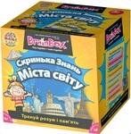Настільна гра. Скринька знань. BrainBox. Міста світу (98344) - купити онлайн