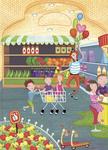 """Купить книгу """"В супермаркете. 42 наклейки"""""""