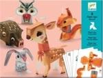Художественный комплект оригами. Djeco. Лесные животные