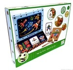 Деревянный набор игра-аппликация с молоточком. Djeco. Космодром (DJ06642)