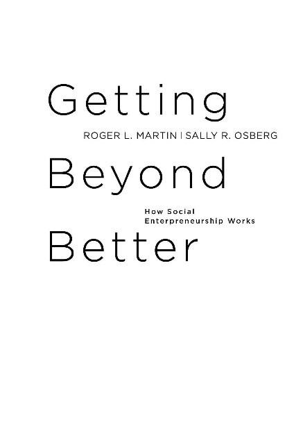 """Купить книгу """"Выходя за рамки лучшего. Как работает социальное предпринимательство"""""""