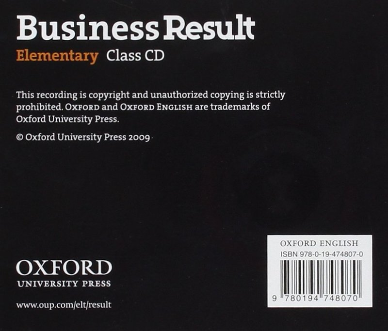 "Купить книгу ""Business Result. Elementary. Class Audio CD"""