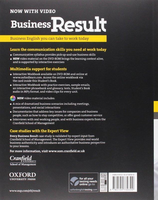 "Купить книгу ""Business Result. Intermediate. Student's Book (+ DVD-ROM)"""