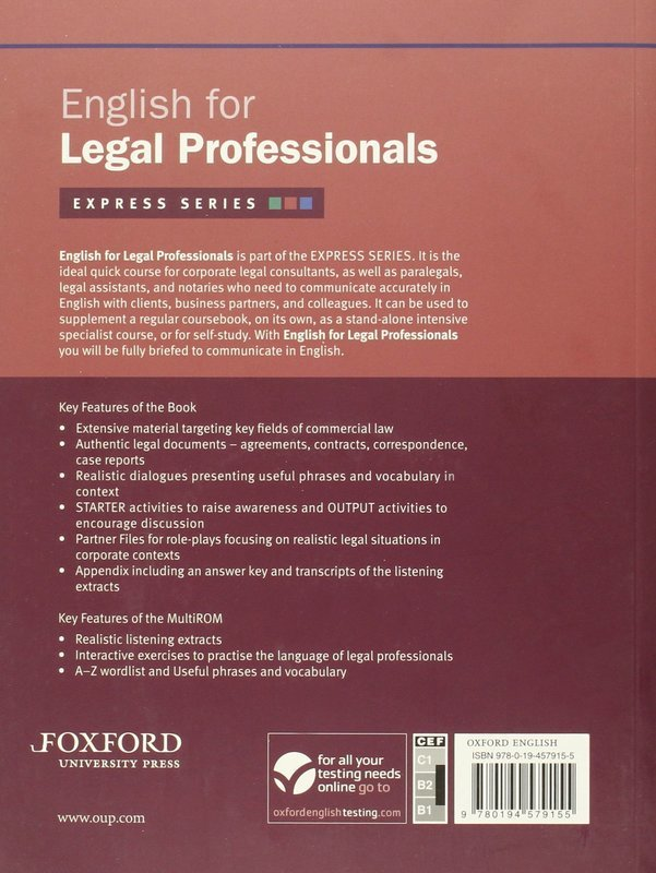 "Купить книгу ""English for Legal Professionals. Express Series (+ CD-ROM)"""