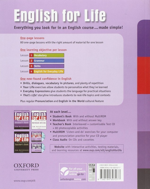 "Купить книгу ""English for Life. Pre-intermediate. Student's Book"""