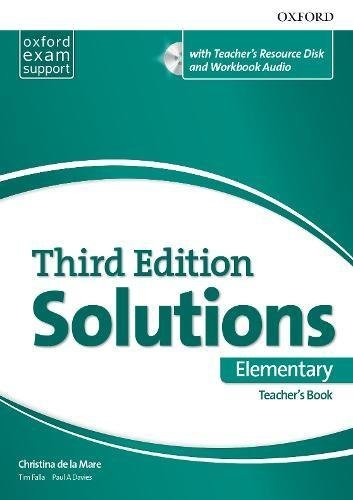 "Купить книгу ""Solutions. Elementary. Essentials Teacher's Book and Resource Disc Pack"""
