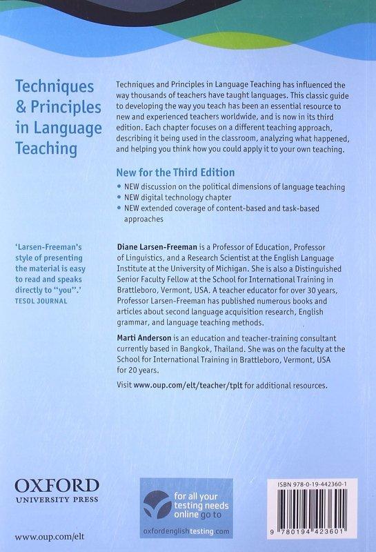 "Купить книгу ""Techniques and Principles in Language Teaching (Third Edition)"""