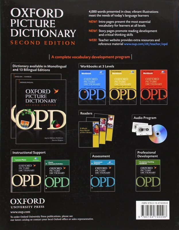 The Oxford Picture Dictionary Monolingual English