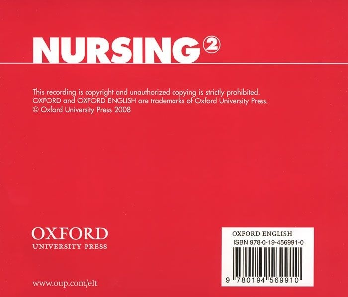 "Купить книгу ""Oxford English for Careers. Nursing 2. Class CD (аудиокурс на CD)"""