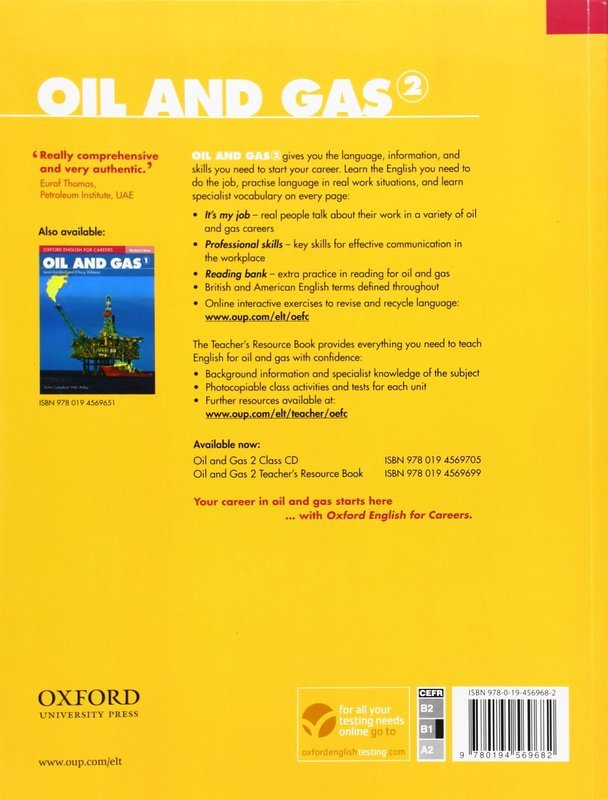 """Купить книгу """"Oxford English for Careers. Oil and Gas 2. Student Book"""""""
