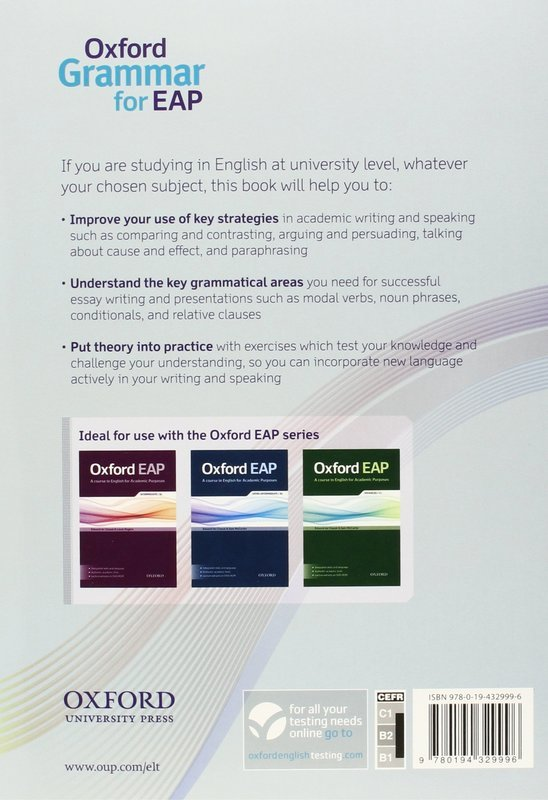 Купить книгу #Oxford Grammar for EAP  English grammar and