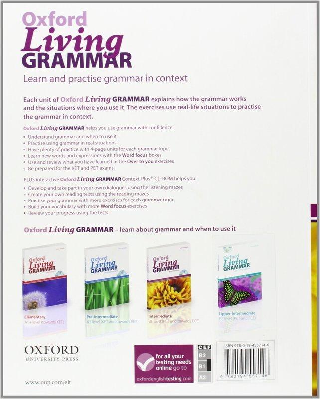 """Купить книгу """"Oxford Living Grammar: Intermediate (+ CD-ROM)"""""""