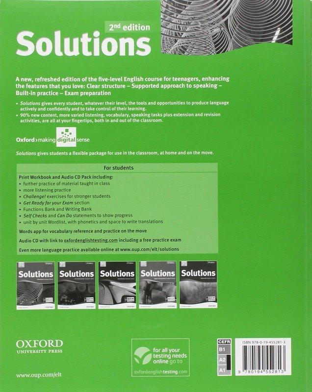 ответы к учебнику solutions pre intermediate student39s book