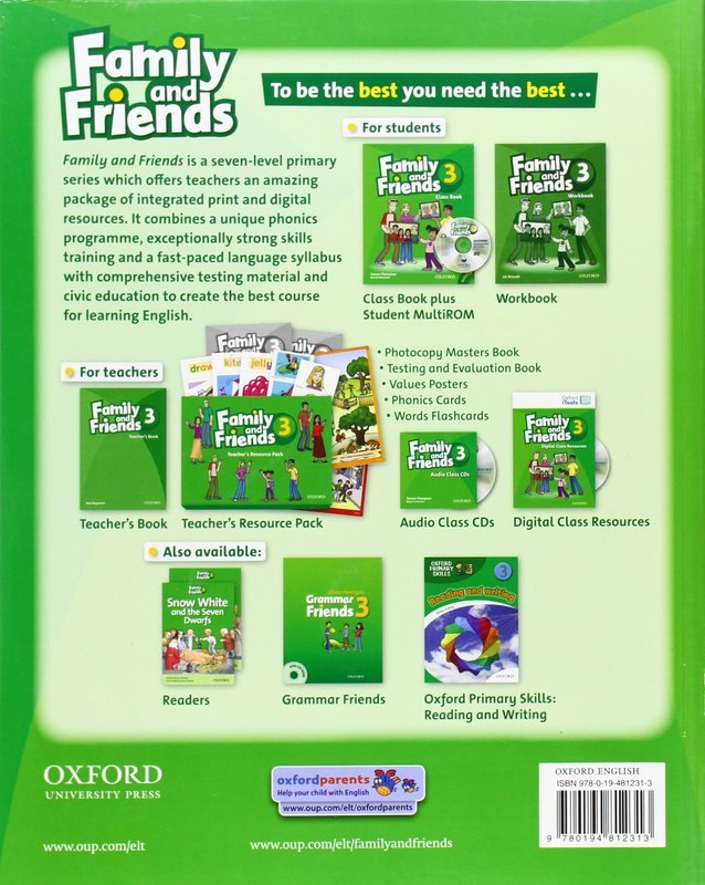 "Купить книгу ""Family and Friends. 3. Class Book and MultiROM Pack"""