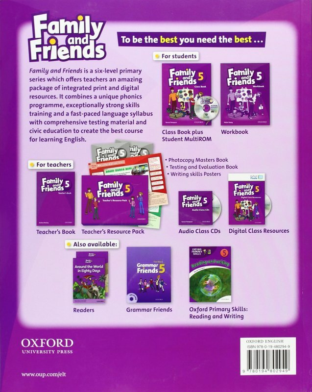 "Купить книгу ""Family and Friends. 5. Class Book and MultiROM Pack"""