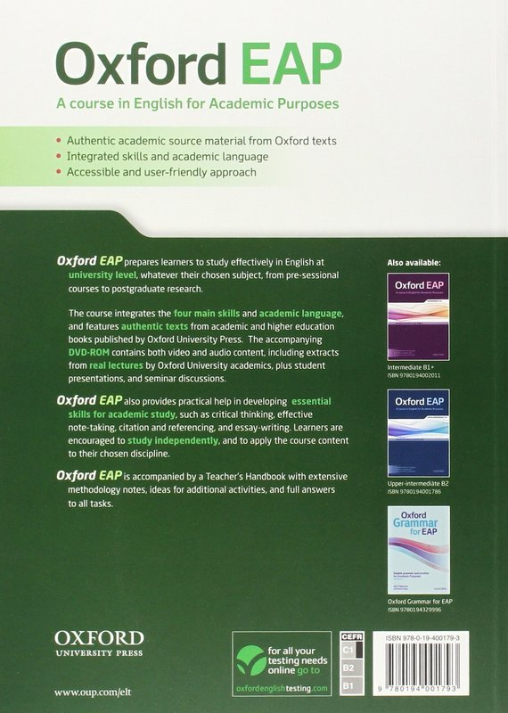 "Купить книгу ""Oxford EAP. Advanced/C1. Student's Book + DVD-ROM"""