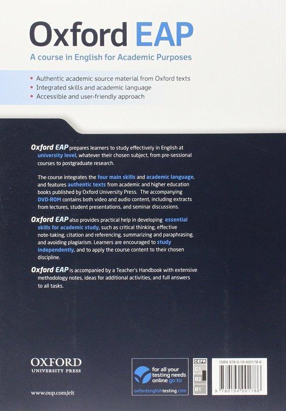 """Купить книгу """"Oxford EAP. Upper-Intermediate/B2. Student's Book + DVD-ROM"""""""