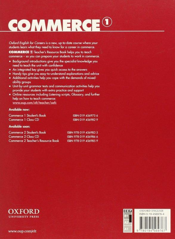 "Купить книгу ""Oxford English for Careers. Commerce 1. Teacher's Resource Book"""