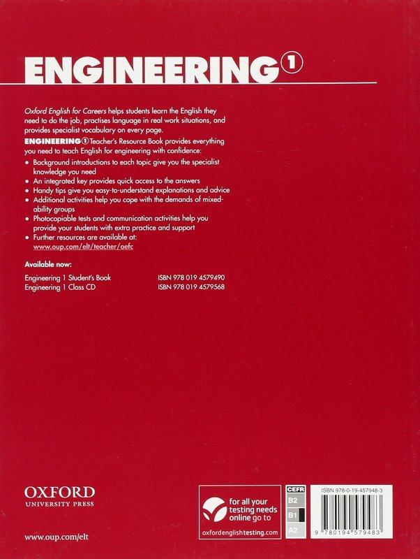 "Купить книгу ""Oxford English for Careers. Engineering 1. Teacher's Resource Book"""