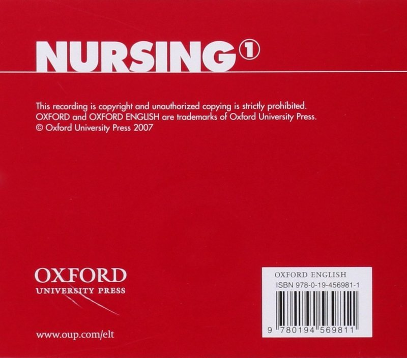 "Купить книгу ""Oxford English for Careers. Nursing 1. Class CD"""