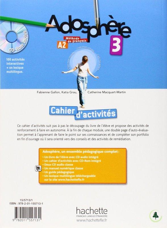 "Купить книгу ""Adosphere. Cahier d'Exercices 3 & CD-Rom"""