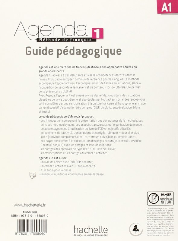 """Купить книгу """"Agenda 1. Guide Pédagogique"""""""