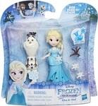 Мини-кукла Disney Frozen Hasbro. Маленькое королевство. Эльза и Олаф (DB5186 / B5185-2)