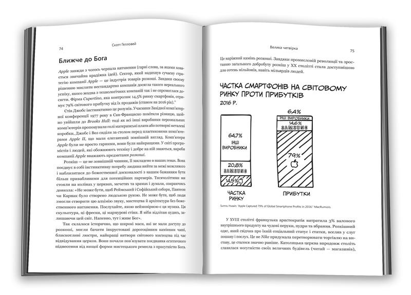 "Купить книгу ""Велика четвірка. Прихована ДНК Amazon, Apple, Facebook і Google"""