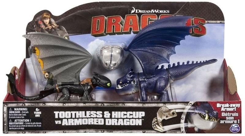"""Купить """"Игровой набор Spin Master Dragons. Как приручить дракона. Иккинг и Беззубик против синего дракона (SM66599-2)"""""""