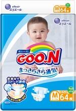 Подгузники Goo.N для детей, 6-11 кг, 64 шт. (843154) - купить онлайн