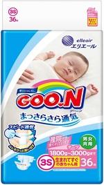 Подгузники Goo.N для маловесных новорожденных, 1,8-3 кг, 36 шт. (853887) - купить онлайн