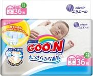 Подгузники Goo.N для новорожденных, до 5 кг, 36 шт. (853888) - купить онлайн