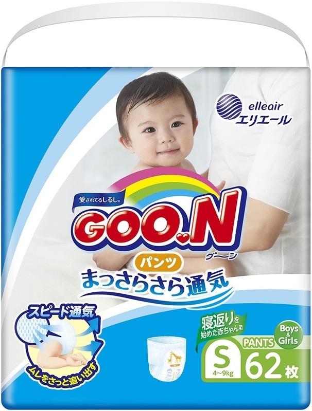 """Купить """"Подгузники-трусики Goo.N для активных детей, 4-9 кг, 62 шт. (853625)"""""""