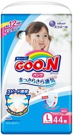 Подгузники-трусики Goo.N для девочек, 9-14 кг, 44 шт. (843096) - купить онлайн