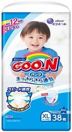 Подгузники-трусики Goo.N для мальчиков, 12-20 кг, 38 шт. (843098) - купить онлайн