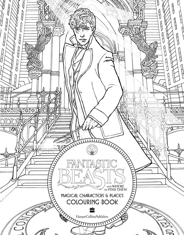 """Купить книгу """"Fantastic Beasts and Where to Find Them: Magical Characters and Places Colouring Book"""""""