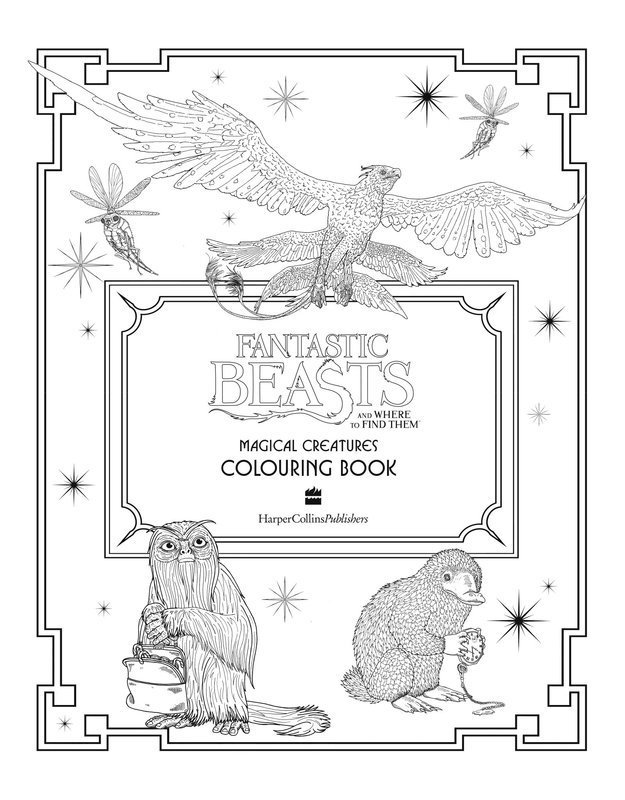 "Купить книгу ""Fantastic Beasts and Where to Find Them: Magical Creatures Colouring Book"""