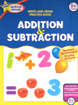 Addition and Subtraction Write-and-Erase Practice Book