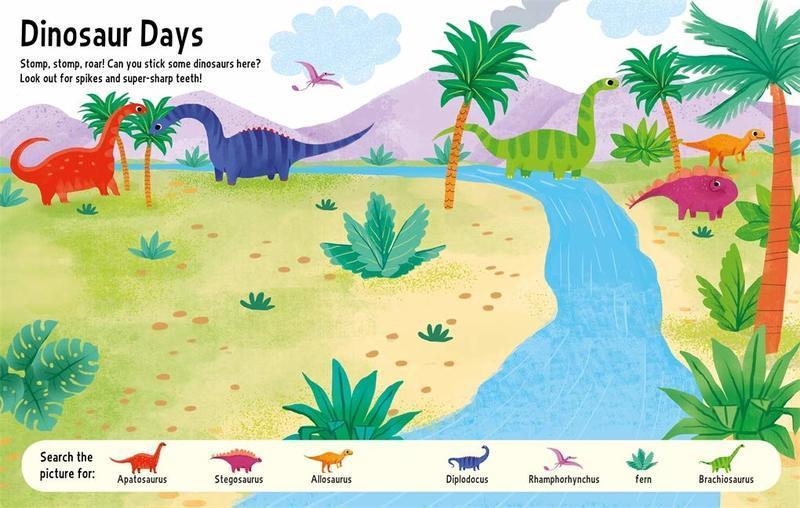 "Купить книгу ""Big Stickers for Tiny Hands: Dinosaurs"""
