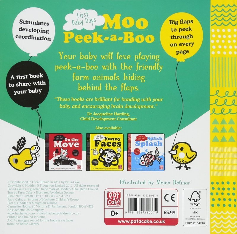 "Купить книгу ""First Baby Days: Moo Peek-a-Boo"""